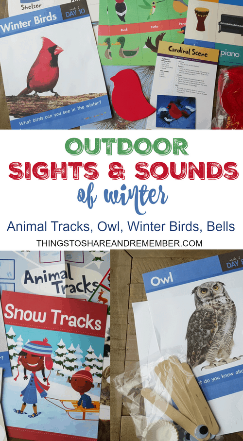 Outdoor Sights & Sounds of Winter Preschool Theme