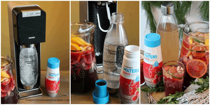 Cranberry Raspberry Sparkling Sangria SodaStream Power Automatic Sparkling Water Maker and SodaStream Sparkling Drink Mixes