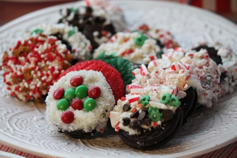 No Bake Candy Coated Christmas Cookies