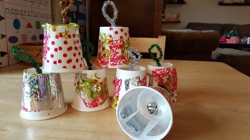 Outdoor Sounds of Winter - Paper Cup bells craft