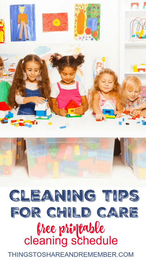 Day Care Toys For Toddler : Cleaning tips for child care with printable schedule