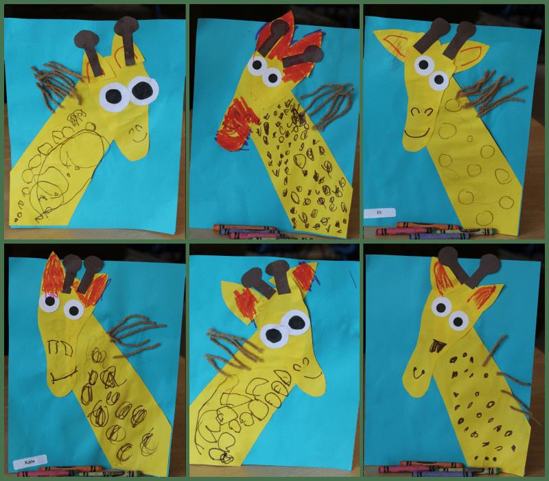 Learning about giraffes - Giraffe art #MGTblogger