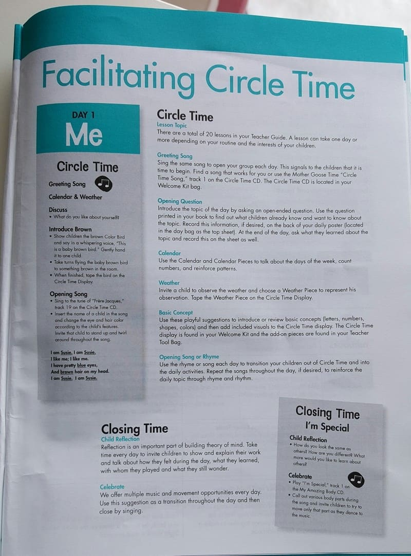 facilitating circle time A Day With Mother Goose Time