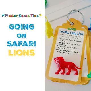 Mother Goose Time Preschool Theme - Going on Safari lions #MGTblogger