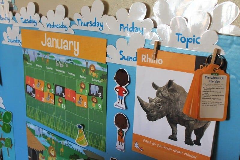 january calendar preschool circle time #MGTblogger