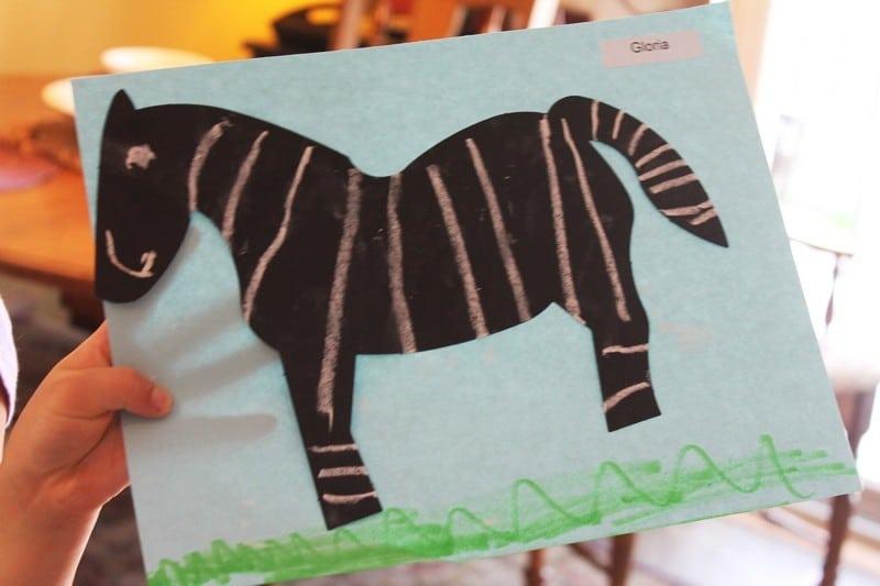 zebra art #MGTblogger