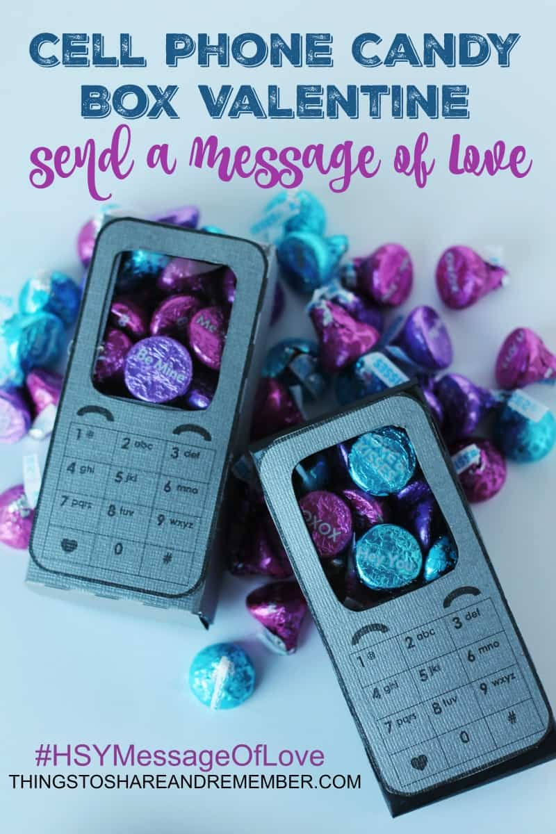 Cell Phone Candy Box Valentine #HSYMessageOfLove