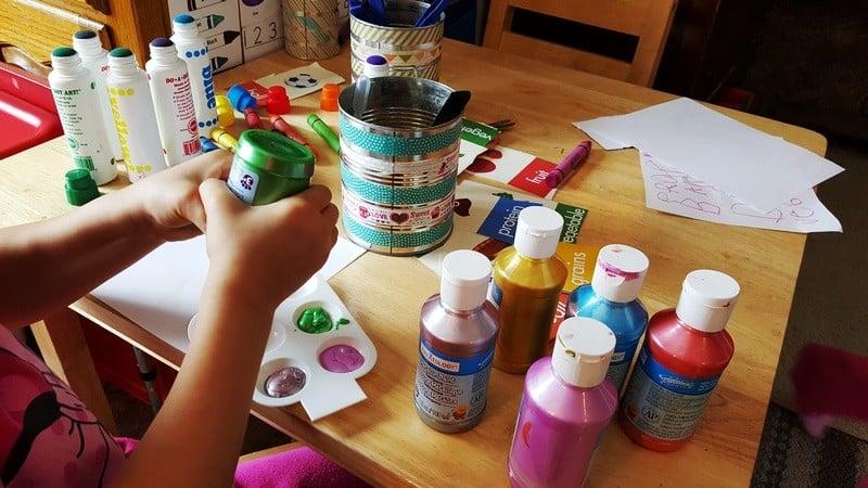 free time process art in preschool