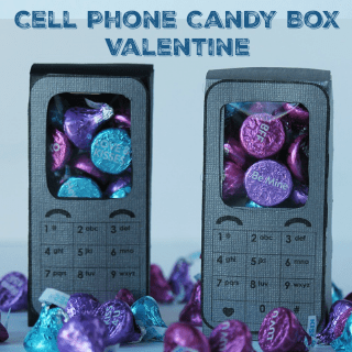 cell phone candy box valentine