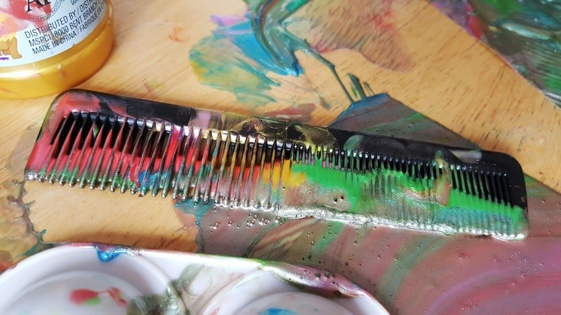 painting with a comb