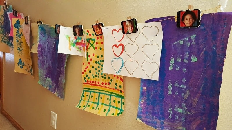 art display for child care