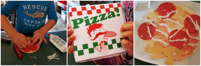 Pizza craft - food and fitness preschool theme