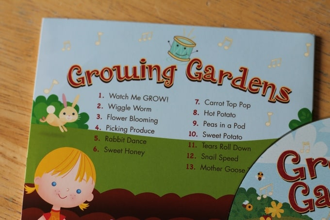 Growing Gardens preschool music CD