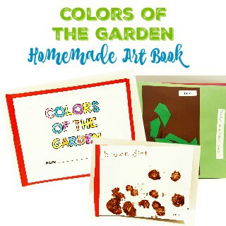 Colors of the garden homemade art book