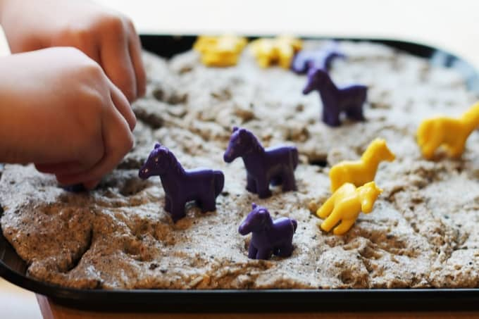 quicksand sensory play