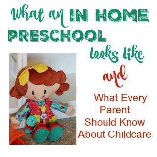 what an in home preschool looks like