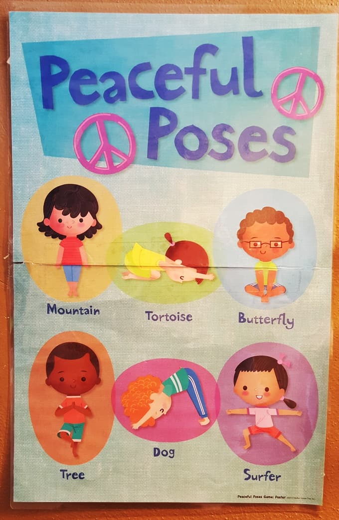 Yoga For Kids Spinner Poster