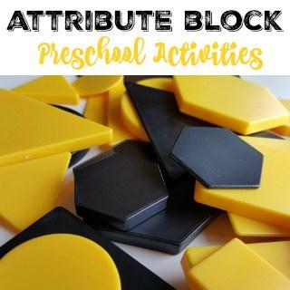 Attribute Blocks in Preschool #MGTblogger