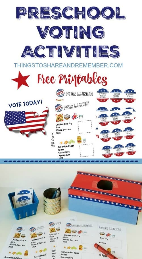 picture about I Voted Stickers Printable named Preschoolers can vote - preschool voting functions