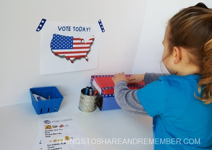 preschool voting activities casting vote
