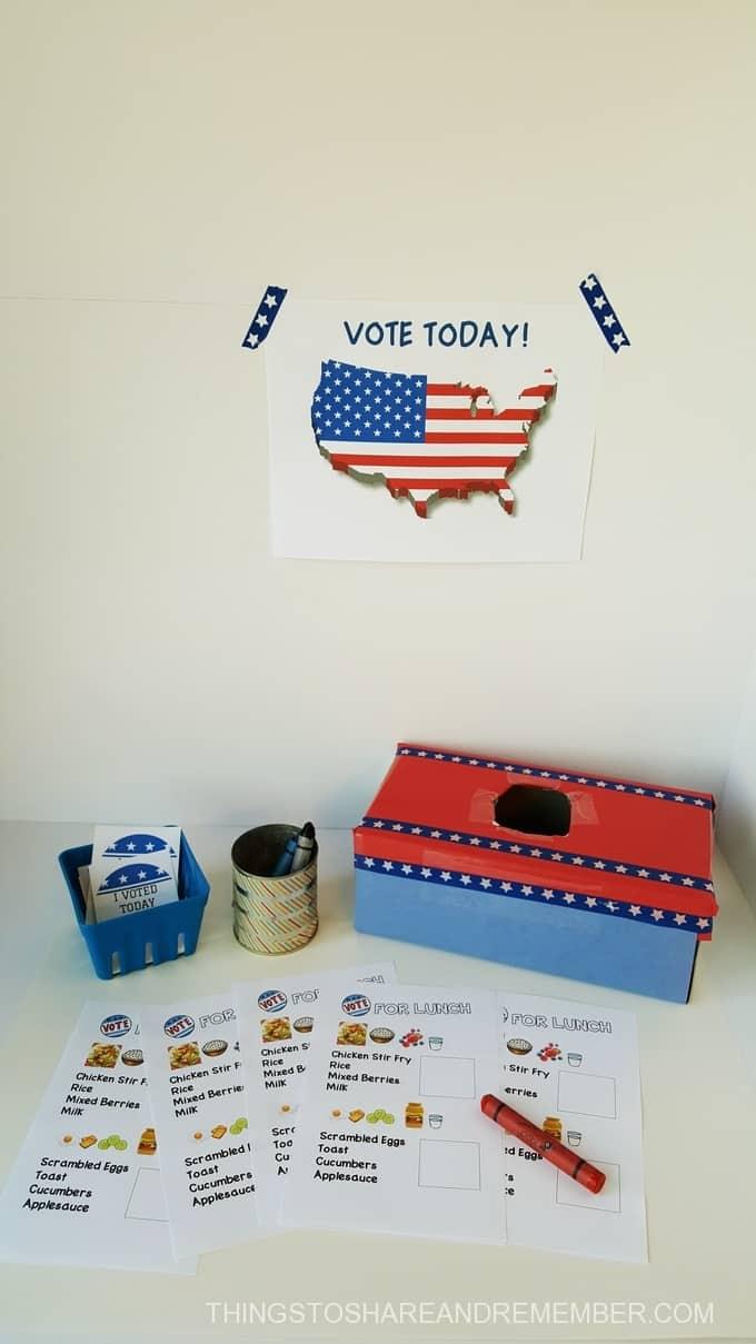 Preschoolers can vote - preschool voting activities