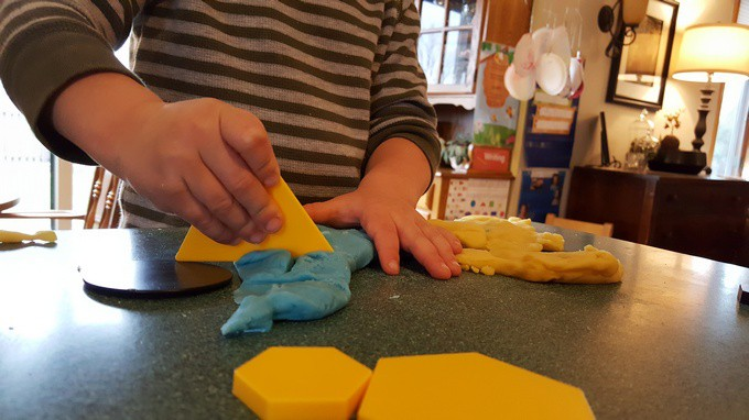 shapes playdough