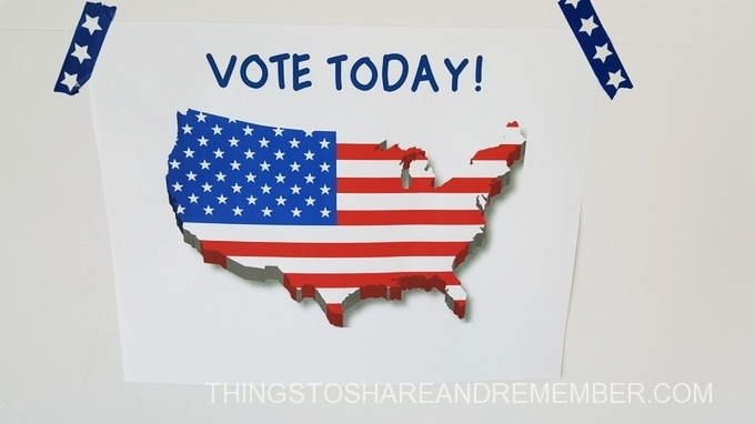 vote today sign preschool voting activities