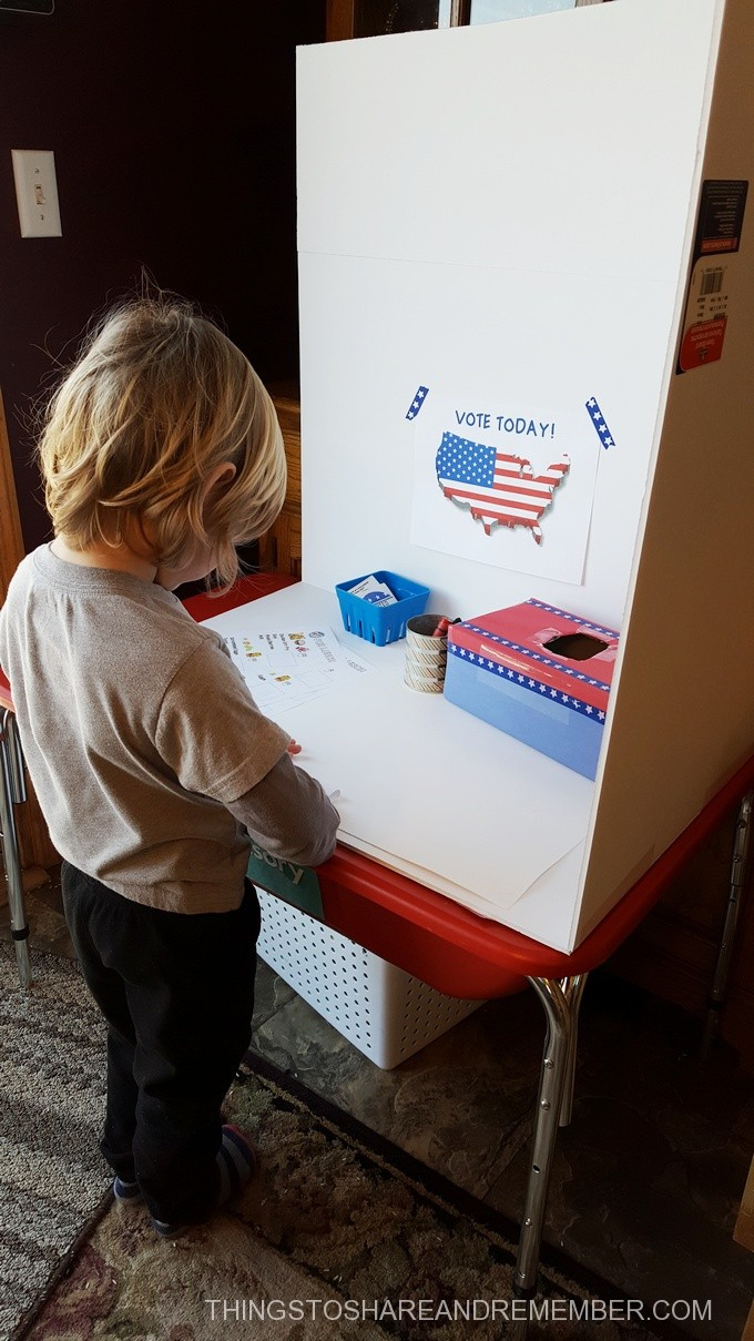voting booth preschool voting activities