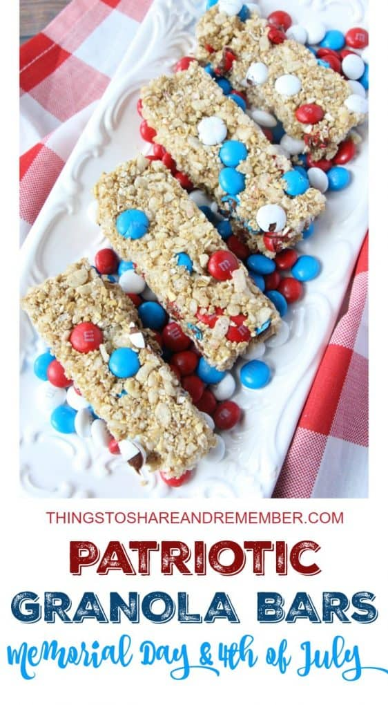 Patriotic Granola Bars - Share & Remember