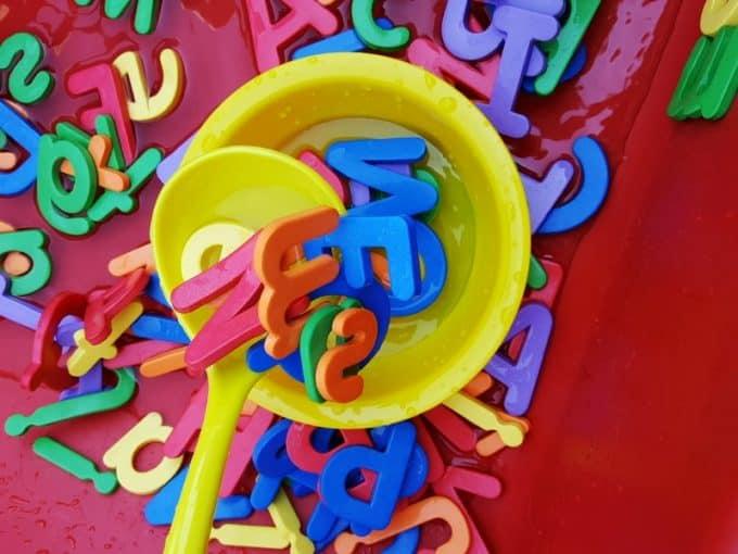 alphabet soup sensory play set