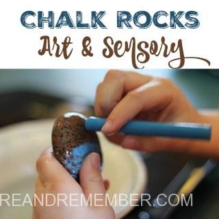 chalk rocks art and sensory 320