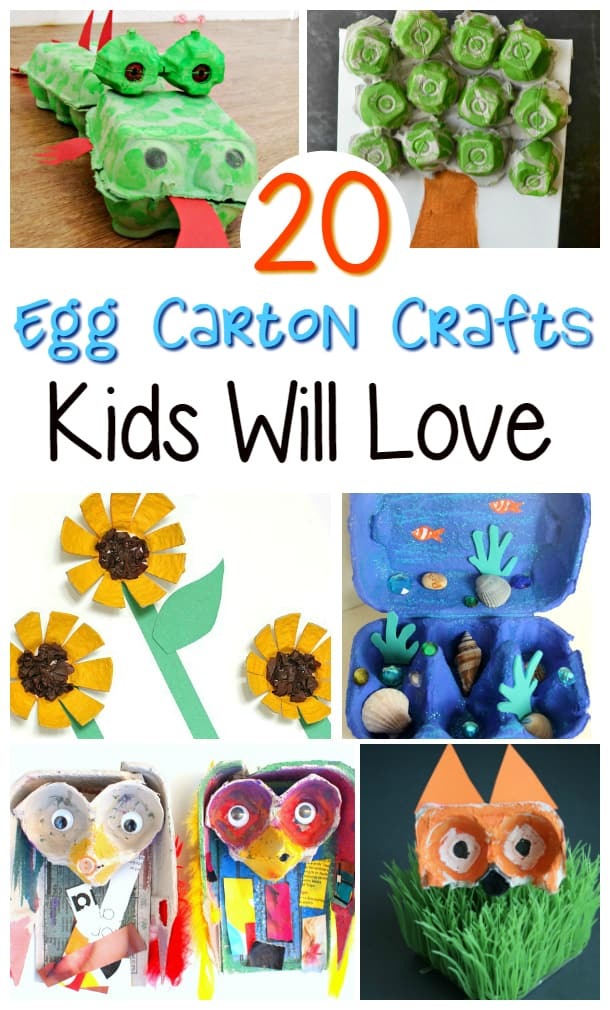 20 Egg Carton Crafts ideas collage
