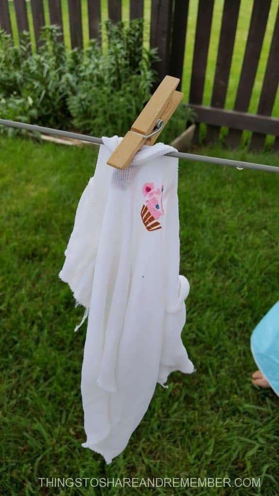 baby shirt on the clothesline