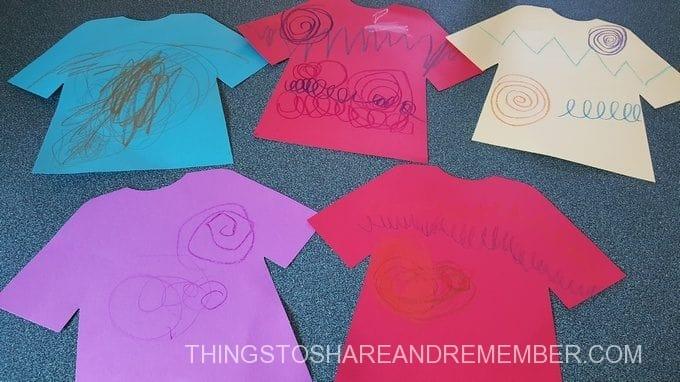 shirt designs emergent writing activity