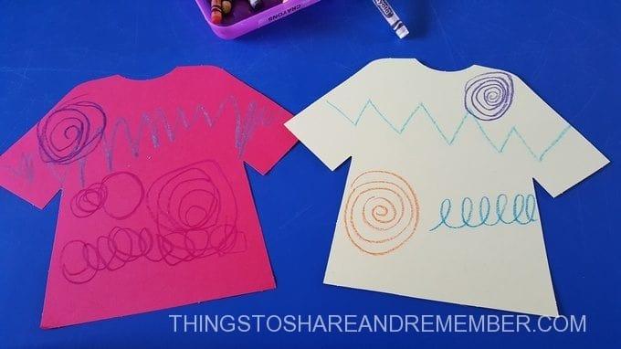 Shirt designs in preschool