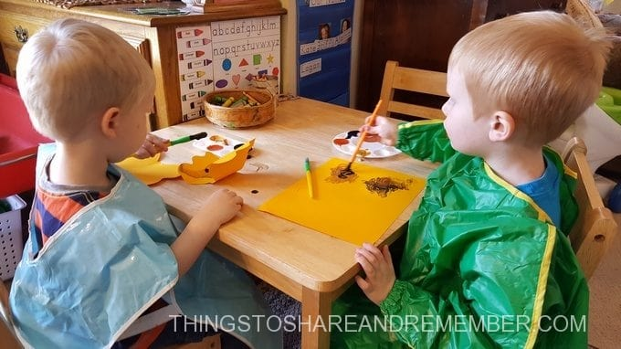Children painting Colors of a Monarch