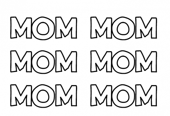 MOM printable wrapping paper