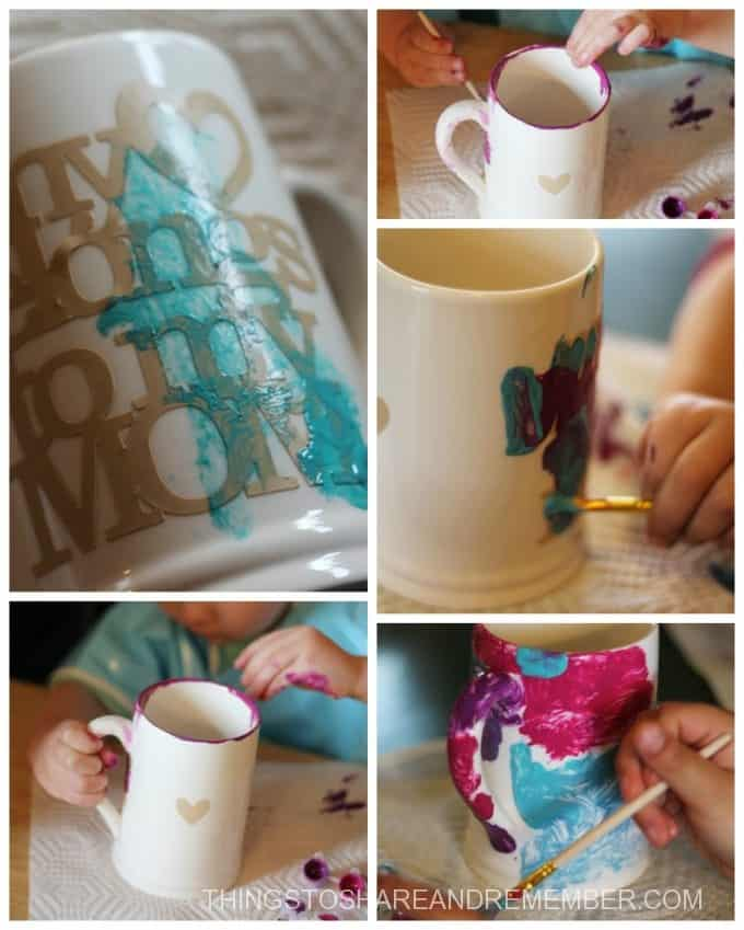 painting mugs for mother's day