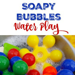 soapy bubbles water play