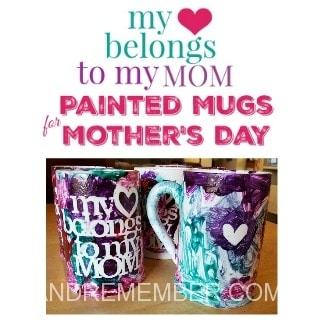 Painted Mugs for Mother's Day