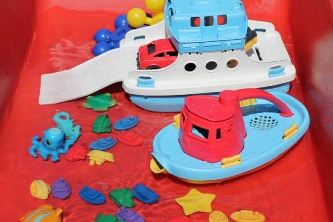 boat sensory bin
