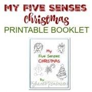 My 5 Senses Christmas Printable Booklet