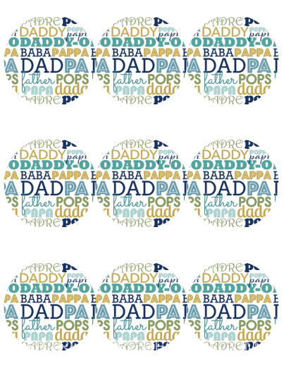 Printable DAD Jar Labels