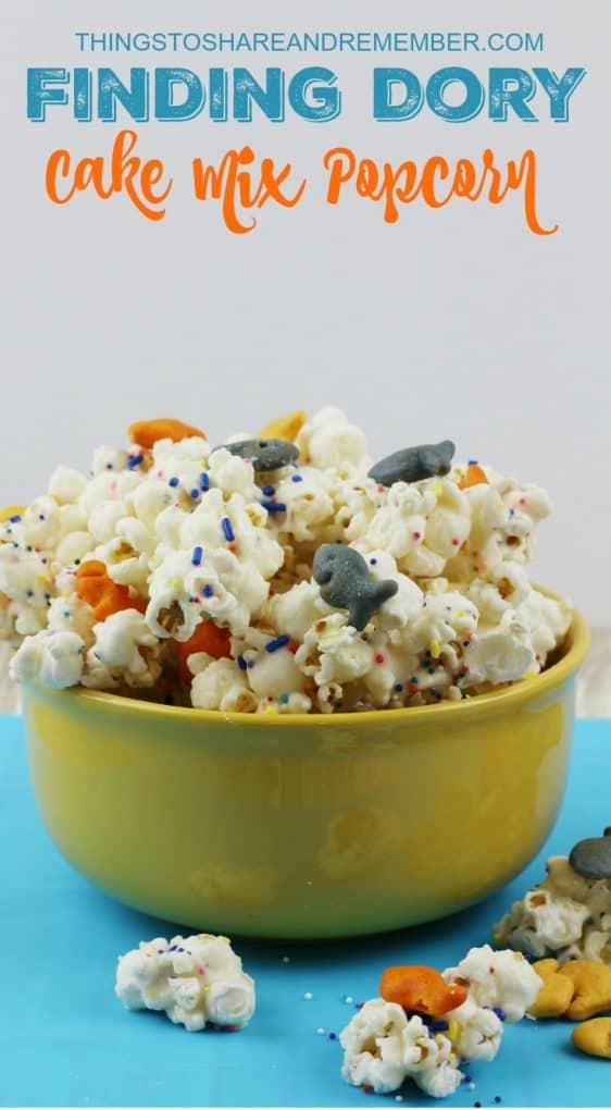 Finding Dory Cake Mix Popcorn