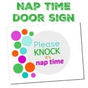 Nap Time Door Sign