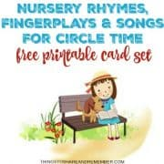 Nursery Rhymes Fingerplays and Songs for Circle Time