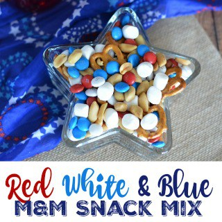 Red White & Blue M & M Snack Mix