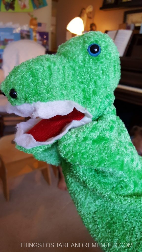 a is for alligator puppet