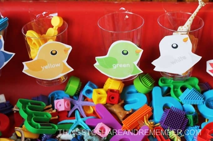 B is for Bird coloring sorting cups