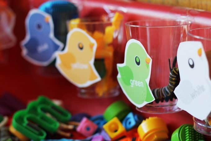 B is for Bird color sorting activity